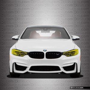 BMW M4 Yellow Headlights Film - By KI Studios