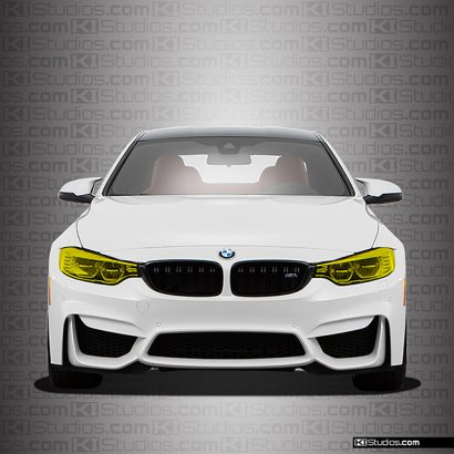 BMW M4 Yellow Headlights Film - By KI Studios