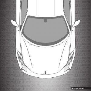 Ferrari 458 Italia Headlight Film Clear