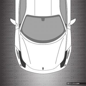 Ferrari 458 Italia Headlight Film Dark Smoke