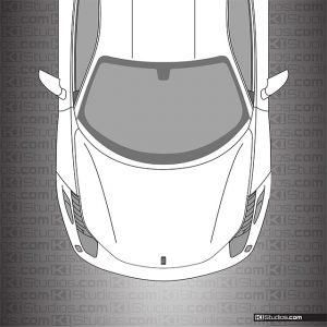 Ferrari 458 Italia Headlight Film Light Smoke