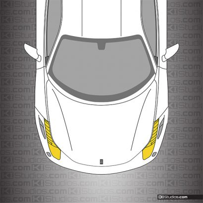 Ferrari 458 Italia Headlight Film Yellow