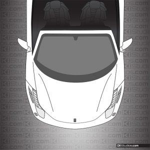 Ferrari 458 Spider Headlight Protection Film Clear by KI Studios
