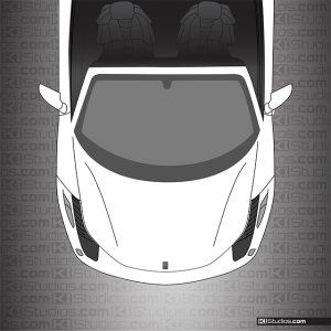 Ferrari 458 Spider Headlight Film Tint Dark Smoke by KI Studios