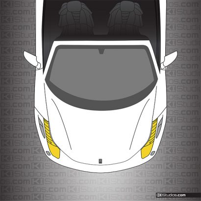 Ferrari 458 Spider Headlight Film - Yellow Headlights by KI Studios