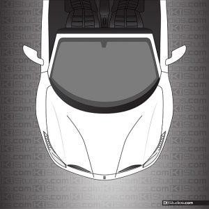 Ferrari 488 Spider Headlight Protection - Clear by KI Studios