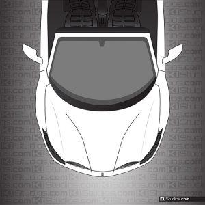 Ferrari 488 Spider Headlight Protection Tint - Dark Smoke