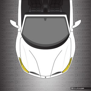 Ferrari 488 Spider Headlight Protection Tint - Motorsport Yellow by KI Studios