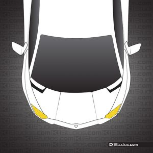 Lamborghini Aventador Headlight Trim - Yellow - By KI Studios