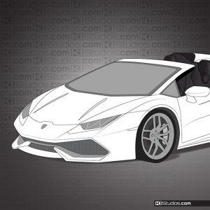 Lamborghini Huracan Spyder Headlight Tint Light Smoke 30% by KI Studios