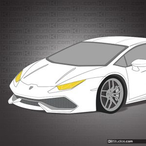 Lamborghini Huracan Yellow Headlights by KI Studios