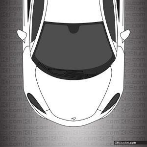 McLaren 570S Headlight Tint Dark Smoke by KI Studios