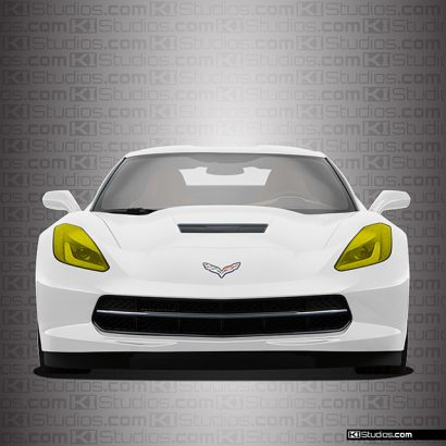 C7 Corvette Yellow Headlights Film by KI Studios