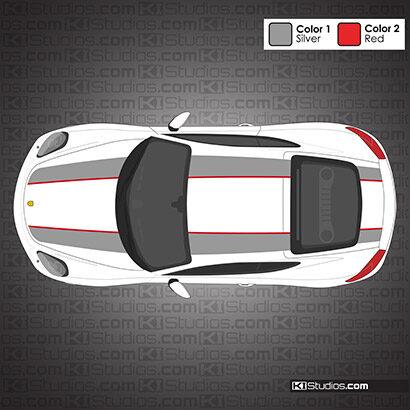 Porsche 981 Cayman 911R Style Stripes
