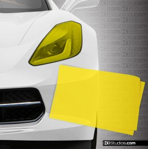 Headlight Protection Film Sample - Yellow