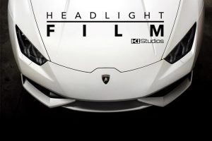 Exotic Vehicle Headlight Protection Film with Flavor