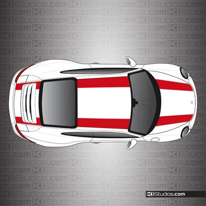 Porsche 991 Carrera 911R Stripes Single Color by KI Studios