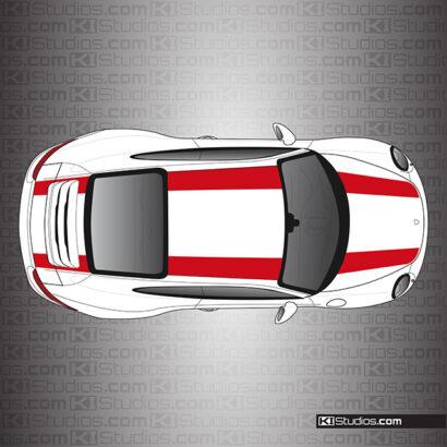 Porsche 991 Carrera 911R Stripes Single Color by KI Studios