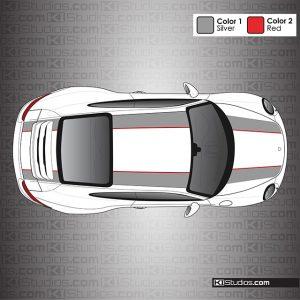 Porsche 991 Carrera 911R Stripes Two Color by KI Studios