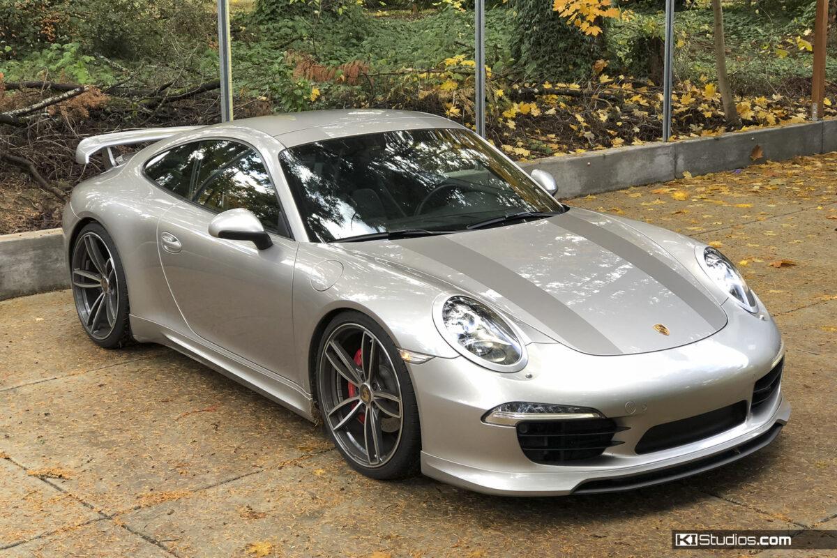Porsche 991 Carrera 911R Stripes Matte Platinum Grey by KI Studios