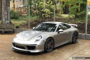 Porsche 991 Carrera 911R Stripes Platinum by KI Studios