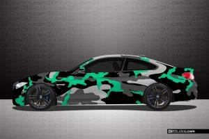 BMW M4 Camo Mint Green - KI Studios