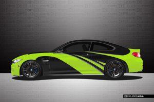 BMW M4 Lime Green Elixir Wrap - KI Studios
