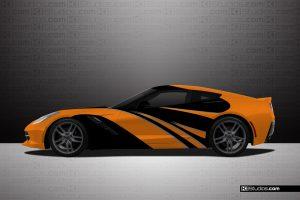 Corvette C7 Elixir Car Wrap - KI Studios
