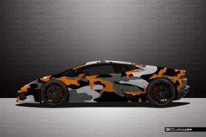 Lamborghini Huracan Covert Livery Orange Colorway - KI Studios