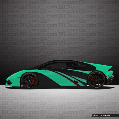 Lamborghini Huracan Elixir Car Wrap Mint Green