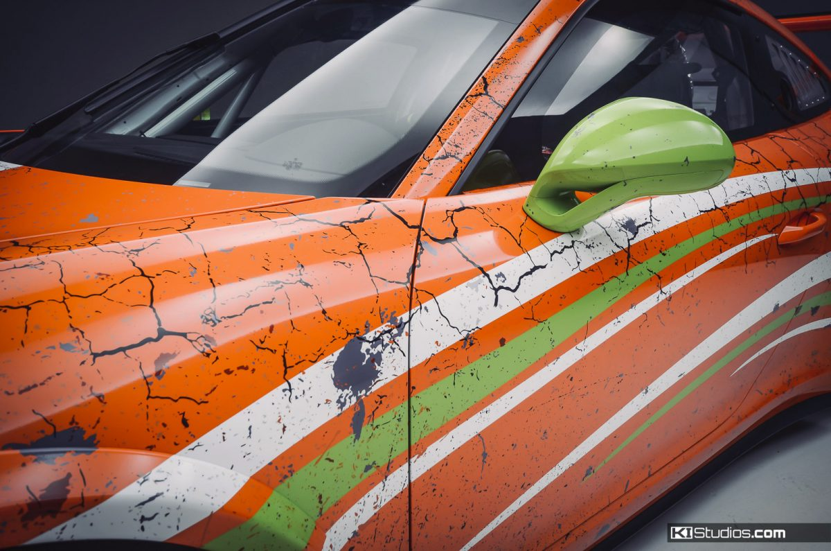 Porsche 991 GT3 Cup Distressed Racing Livery by KI Studios