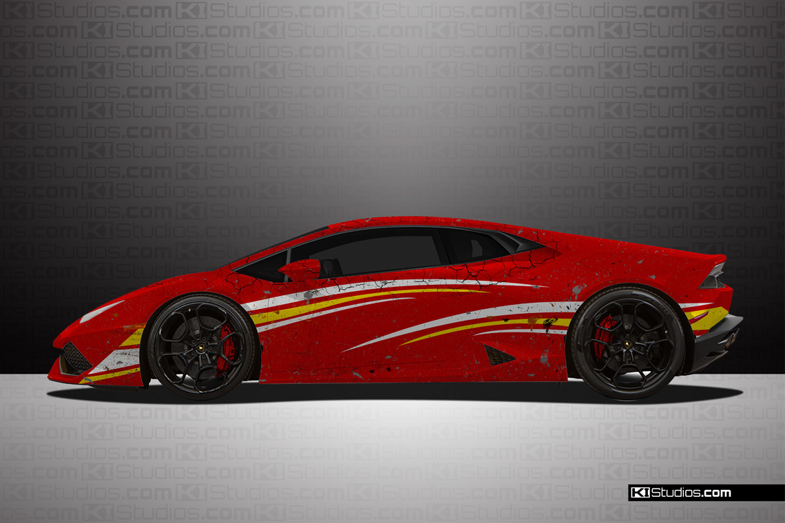 Lamborghini Huracan LP 610-4 Distressed Livery Car Wrap by KI Studios