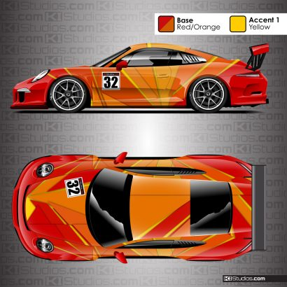 Porsche 911 Cup Racing Livery - Rift by KI Studios