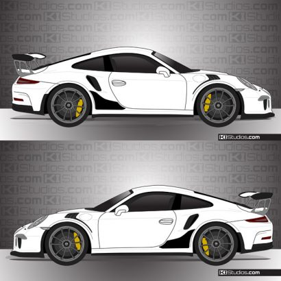 Porsche 991 GT3 RS Stone Guards by KI Studios