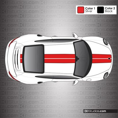 Porsche 991 Turbo S Exclusive Series Outlined Stripes by KI Studios