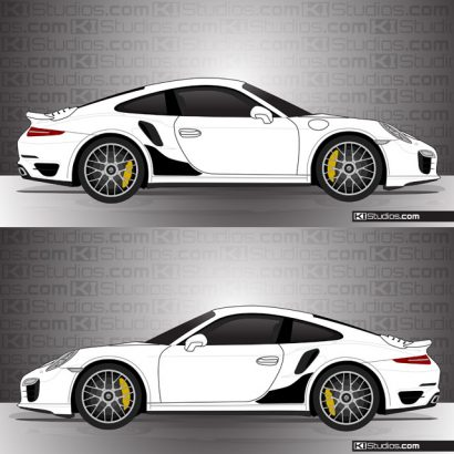Porsche 991 Turbo Stone Guards by KI Studios