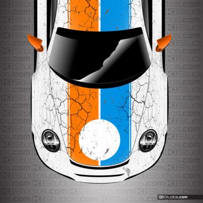Porsche 911 Cup Car Brumos Porsche Style Wrap No Number by KI Studios