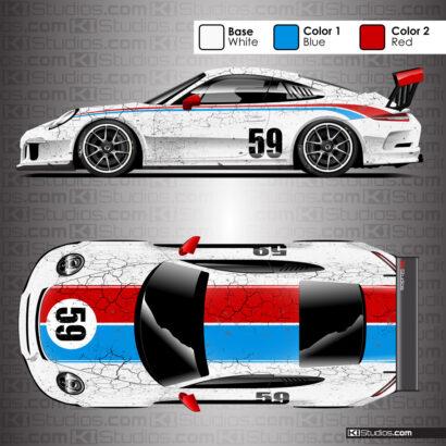 Porsche 991 GT3 Cup War Horse Livery
