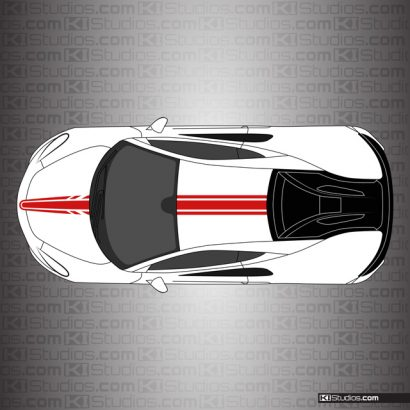 McLaren 570S Stripe Kit 006 - Single Color