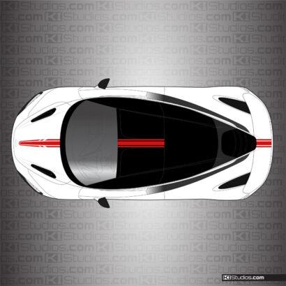 McLaren 720S Single Color Top Stripe 005