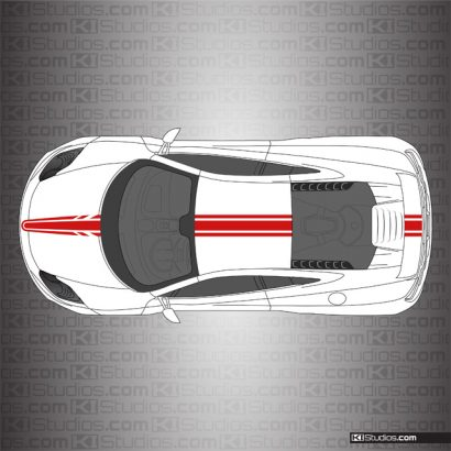 McLaren MP4-12C Stripe Kit 006 - Red
