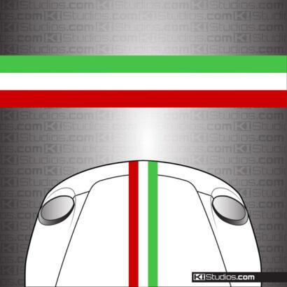 KI Studios Italian Flag Universal Stripes