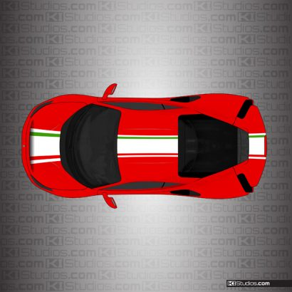 Ferrari 488 Pista Stripe Kit 004 Over Red