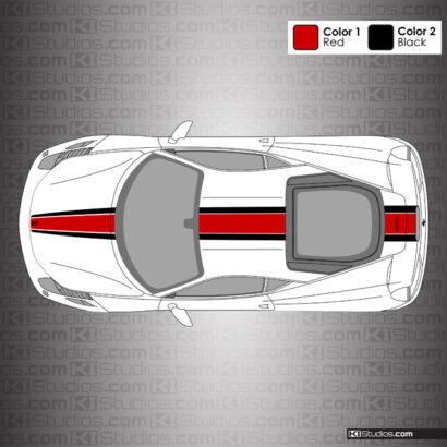 Ferrari 458 Italia F12 TDF Style Stripe Kit