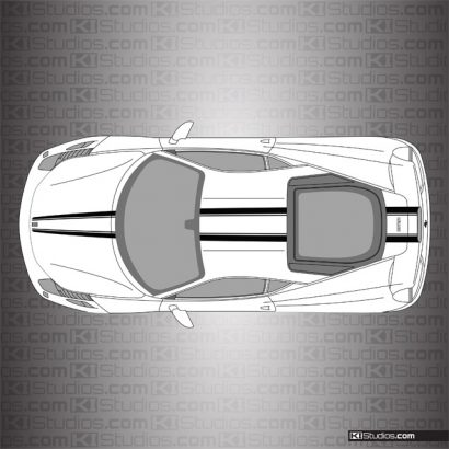 Ferrari 458 Italia Stripe Kit 008 Based on F12 on White
