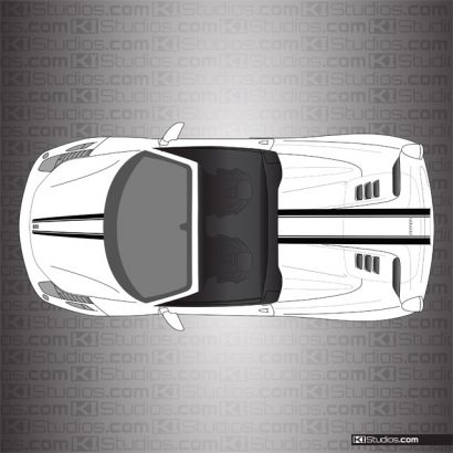 KI Studios Stripes for Ferrari 458 Spider - 008 Black on White