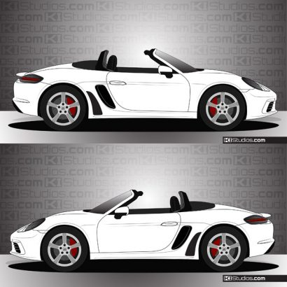 Porsche 718 Boxster Stone Guards