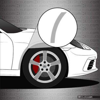 Porsche 718 Cayman Front Splash Guards