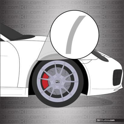 Porsche 981 Boxster Front Splash Guards - PPF