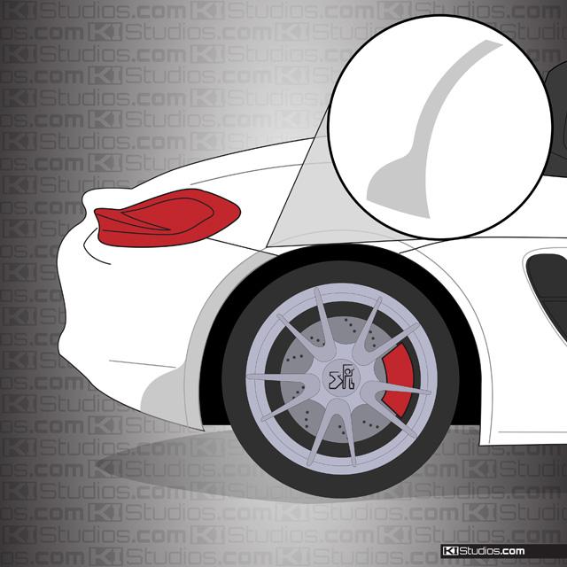 Porsche 981 Boxster Rear Splash Guards